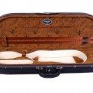 "Tonareli Ultra Light Half-Moon Violin Case Brown ""Birds""/Cream - 4/4"