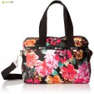 LeSportsac Essential Small Uptown Satchel, Romantics Black
