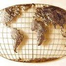 SEI Iron World Map Wall Art