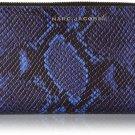 Marc Jacobs Block Letter Snake Standard Continental Wallet, Cobalt Snake Multi,
