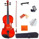 ADM 1/4 Size Handcrafted Solid Wood Student Acoustic Violin Starter Kits(Hard Ca