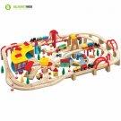 Wooden Train Set 145 Piece Compatible Thomas Melissa Doug Kids Play Toy Railway