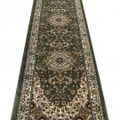 Traditional Area Rug Runner 32 In. X 10 Ft. Green Bellagio 401