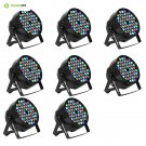 Eyourlife LED Stage Lights 8pcs 54X3W LED DJ PAR Light RGBW 162Watt DMX 512 Stag
