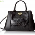 Anne Klein Total Look Medium Satchel, Black/Black