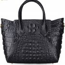 Pifuren Women Genuine Leather Embossed Crocodile leather Top-handle handbags P67