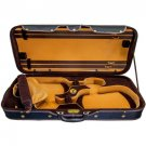 SKY Heavy Duty 4/4 Full Size Wooden Pro Double Violin Case Black/Khaki
