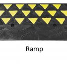 Reflective 15 Ton Rubber Curb Ramp 30,000 lbs capacity | 2 Pack