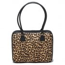 Leopard Animal Print Canvas Laptop Case by Mango Tango