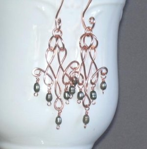 """Ginger Dear"" Elegant Copper Dangles"