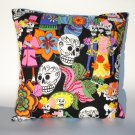 Day of the Dead -Dia De Los Muertos throw Pillow rockabilly