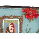 Frida Kahlo Art Mexican Novelty wallet coin purse- w/zipper Big enough 4 Make-up
