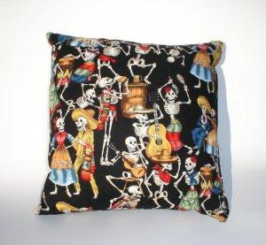 Day of the Dead wallet coin purse-Dia De Los Muertos throw Pillow rockabilly