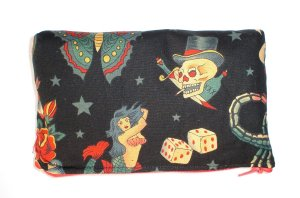 Tattoo wallet coin purse-w/zipper Big enough 4 Make-up