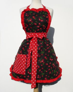 Rock Hard Cherry Deluxe Full Apron