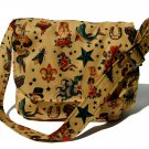 Tattoo Vintage Art Large Messenger Purse w/adjustable handles