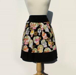 Sugar Skull Pleated Skirt