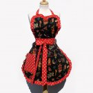 Vintage Tattoo Polka Dot Apron Deluxe