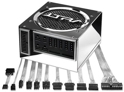 Ultra X-Connect X2 550 Watt ATX 24 Pin Modular Power Supply-- Titanium Color