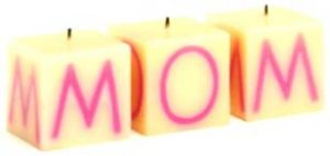 """Mothers Day Candle Set Spells """"MOM"""" MUST SEE!!!"""