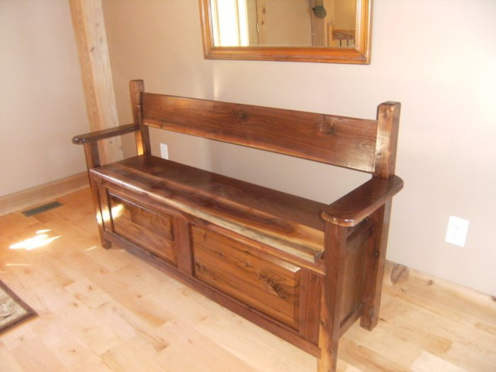 Wooden Handmade Blanket Chest Bench