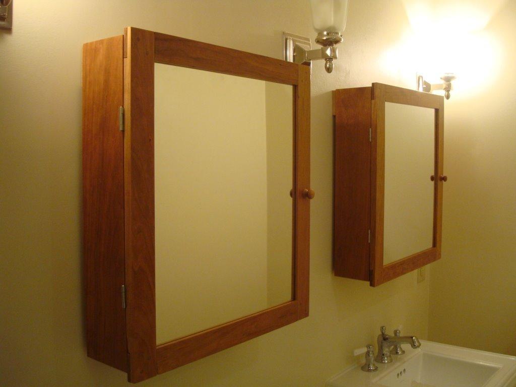 Handmade Wood medicine cabinet