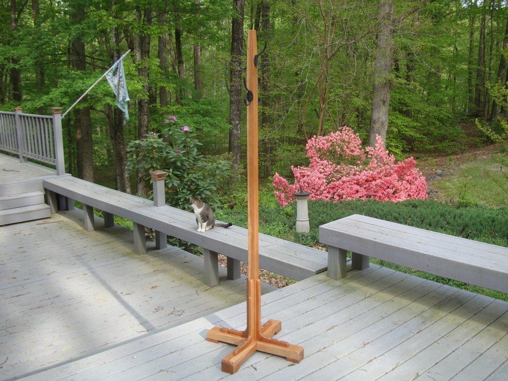 Handmade Wood Coat Tree/Rack