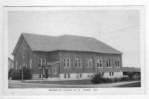 Vintage Photo  Postcard Mennonite Church at St. Jacobs, Ontario, Canada