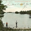 Color Postcard  Among the Thousand Islands St. Lawrence River  Ontario Canada
