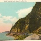 Color Postcard  Mink Tunnel Lake Superior Ontario Canada