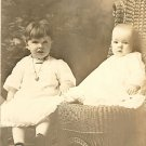 Vintage Photo Postcard Showing 2 Children