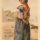 Collectible  Postcard Showing Little Dutch Girl