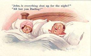 Vintage Comic  Bamforth Postcard from Domestic Series Donald McGill