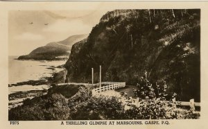 Photo  Postcard  Thrilling  Glimpse at Marsouins Gaspe Quebec, Canada
