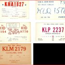 Lot of 5 Radio Communication Cards