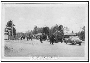 Entrance to Camp Borden Ontario  Vintage  Postcard