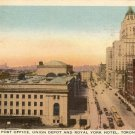Color Postcard Front Street Post Office Union Depot and Royal York Hotel Toronto  Ontario