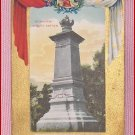 Color  Postcard  Monument Jacques Cartier Quebec Ter-Centenary 1608 -1908 Quebec, Canada