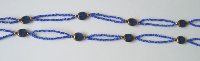 Beaded Bra Straps Blue 19
