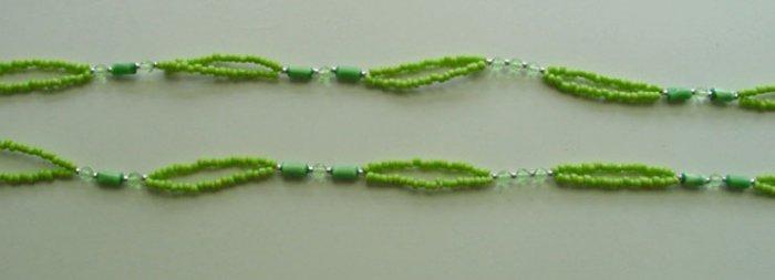 Beaded Bra Straps Green 16
