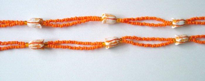 Beaded Bra Straps Orange 9