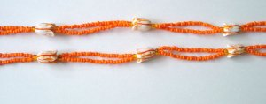 Beaded Bra Straps Orange 9