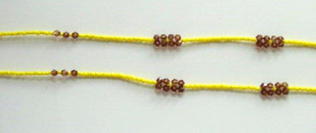 Beaded Bra Straps Yellow 9