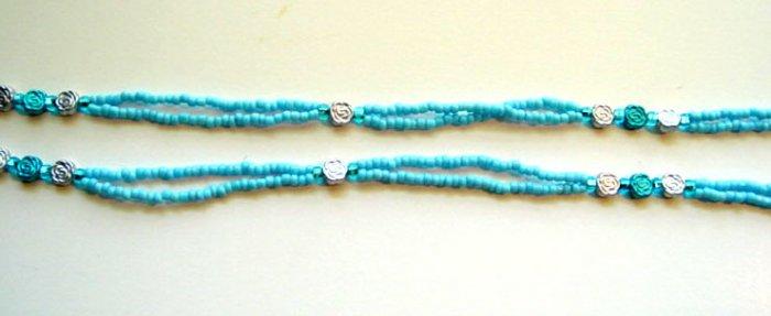Beaded Bra Straps Turquoise 14