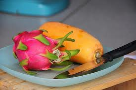 Papaya Dragonfruit Scented Kona Coffee Exfoliating Face Scrub
