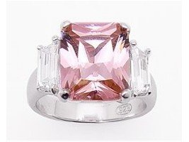 Stunning Sterling Silver Pink Ice Ring