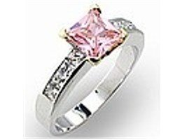 2 Toned Pink Ice / Rose Cubic Zirconia