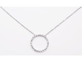 """O"" Circle of Love CZ Necklace"