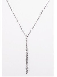 Clear CZ Bar Necklace