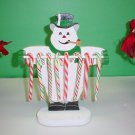 Wooden Snowman Candycane Holder